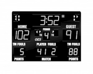 Basketball, Volleyball, Wrestling Scoreboard