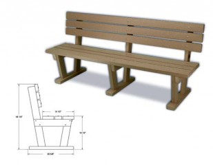 Bench with back rest